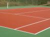 Terrain de tennis fini